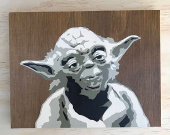 Today Star Wars painting on wood