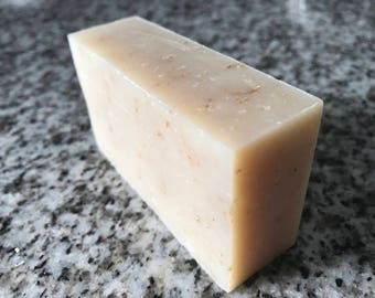 Natural Soap, Organic Ingredients, Craft Soap, Unscented Soap, Oatmeal Soap, Gentle Soap, Sensitive Skin Soap, Fragrance Free Soap