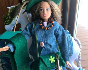 Barbie Delightful Denim Casual Outfit & Accessories