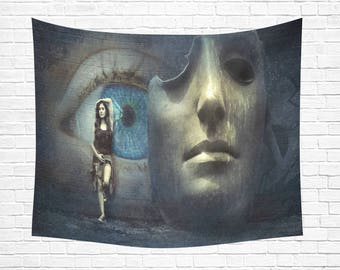"Mask Off Wall Tapestry 60""x 51"""