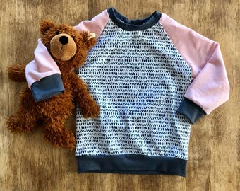 Toddler Crew Neck Pink French Terry