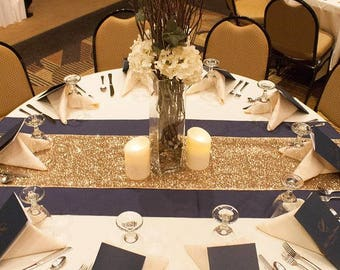 Gold Sequin Table Runner 12''X 108''