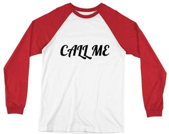 Call Me - Long Sleeve Baseball T-Shirt