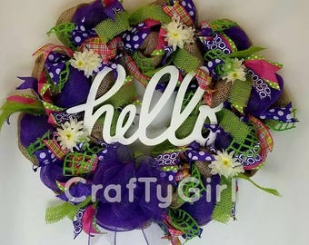 Fun Spring Wreath