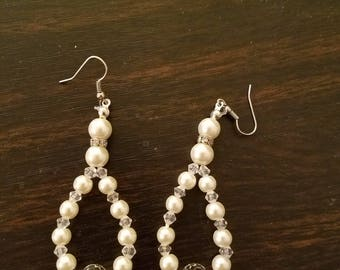 Pearl colored earrings