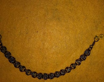 Captured bead chainmaille bracelet