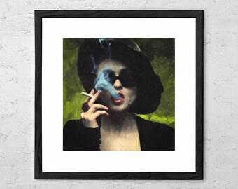 Marla Singer - Marla Singer Painting - Fight Club - Movie Poster - Helena Bonham Carter - Chuck Palahniuk - Tyler Durden - Cult Film Poster