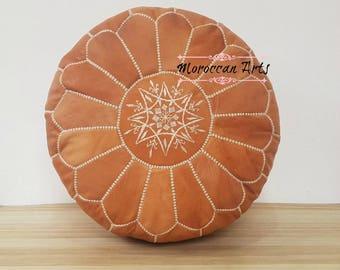 Moroccan Leather ottoman Pouf, pouf ottoman, 03