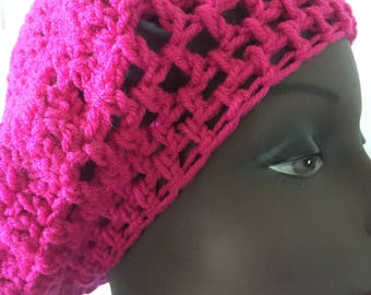 hot pink slouch hat