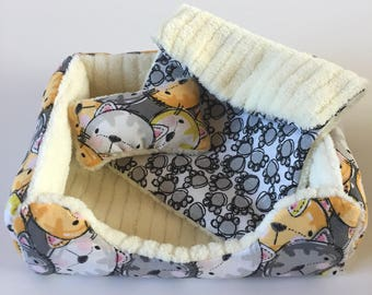 "18"" Doll Pet Bed/3pc Pet Bed Set/Doll Pet Bed/Dog Bed/Cat Bed/Cat Friends"