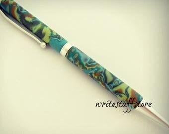 Pen, Twist Pen Slimline Pen, Handcrafted Pen, Gift Pen, Gift Under Twenty