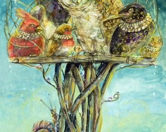 Royal bird table A3 PRINT