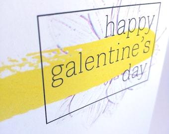 Happy Galentine's Day Watercolour Card