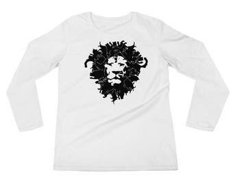 Big Kat Ladies' Long Sleeve T-Shirt