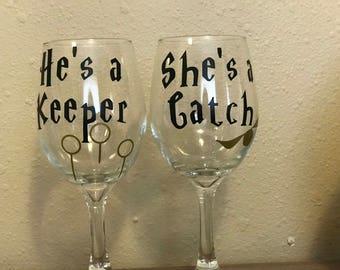Harry Potter wine glass set