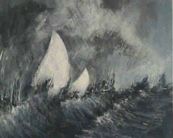 Stormy Sailing Painting