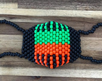 Kandi Mask (black/orange/green)