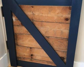 Custom Hand made Reclaimed Lumber Half Door
