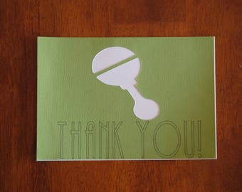 Baby Shower, Thank you, Congrats Cards- 5 pack with envelops