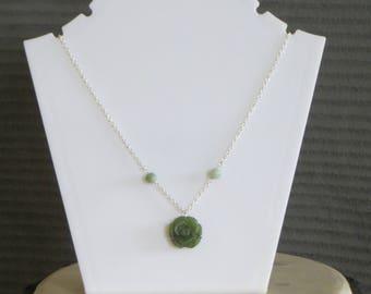 jade rose necklace