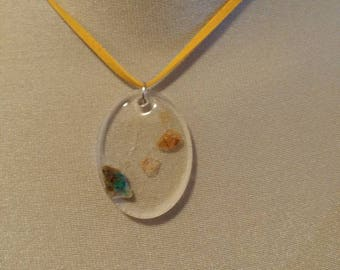 Multiple gemstone resin necklace
