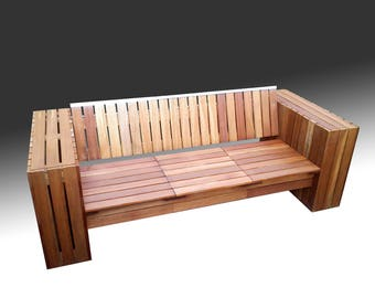 Design Outdoor Bench of hardwood-2m long