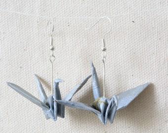 Handmade Origami Crane Earrings