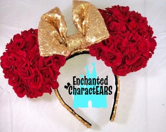 Belle Ears Beauty and the Beast Ears Custom Minnie Ears