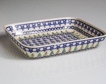 Polish Pottery Boleslawiec, Rectangular Dish