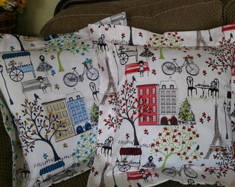 Paris France Collection - Pillow Covers, Decorative Throw Pillow Covers, Pillow Shams 20x20