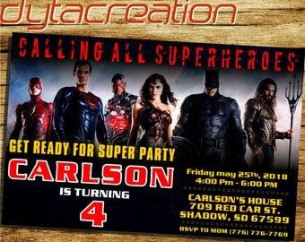 Justice League Invitation.Justice League Birthday.Justice League Party.Justice League Printable.Superhero Invitation.Justice League-DA
