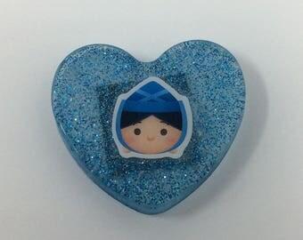2in Merryweather Resin Glitter Magnet