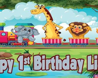 Animals Birthday Banner