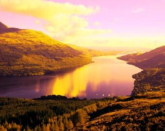 Loch lomond unique print