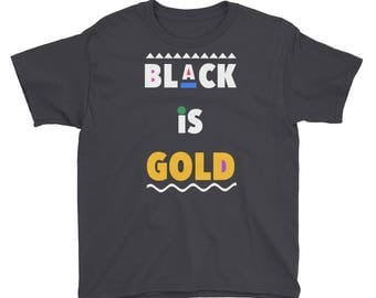 Black is Gold Youth Short Sleeve T-Shirt