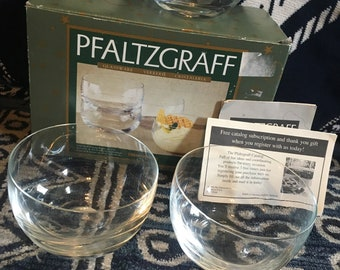 Set of 3 Pfaltzgraff Verrerie Cristaleria