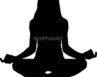 yoga girl vector,  clipart