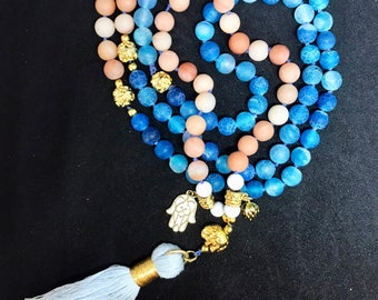Mala Necklace from Agate-stability and balance