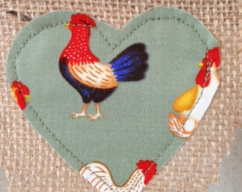 Country chickens bunting