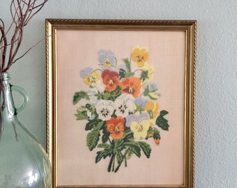 Floral Crewel Wall Art