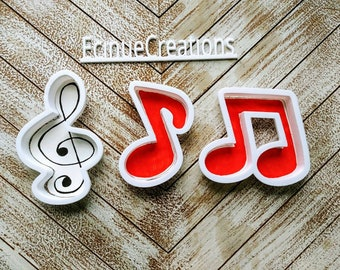 Musical Notes Cookie Cutters