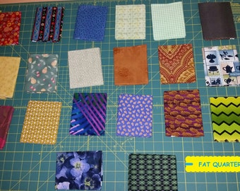 20 Piece Fat Quarter Fabric Bundle~Quilting/Sewing/Crafting ~100% Cotton~Lot #7