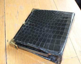 Goldseal Leathergoods Black crocodile handbag