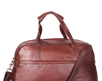 Leather Holdall Travel Bag