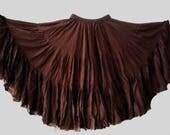Chocolate Brown Truffle 25Yard Tribal Gypsy Skirt