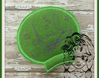 PRiNCESS MeRMAID AUToGRAPH Ear (Add On ~ 1 Pc) Mr Miss Mouse Ears Headband ~ In the Hoop ~ Downloadable DiGiTaL Machine Emb Design by Carrie