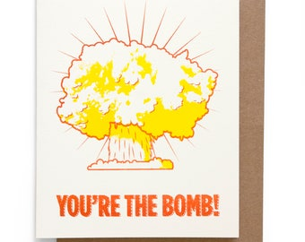 You're The Bomb note card