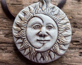Solar Eclipse Necklace | Eclipse 2017 | Sun and Moon Necklace | Eclipse Jewelry | Earthy and Organic Necklace | Celestial Necklace Under 20