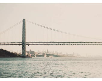 Landscape Photograph - New York Photography - New York Bridge Art - Travelers And Dreamers - Fine Art Photograph  - New York City Art