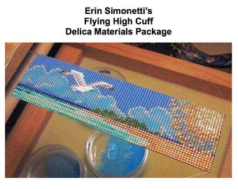 """Delica Package for Erin Simonetti's """"Flying High Cuff"""", Loom work, Beading"""